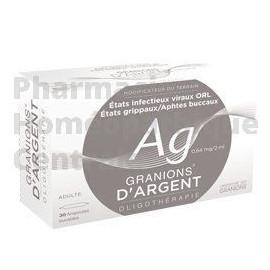 Argent - Granions -  Oligoéléments pour infections virales de la sphère ORL