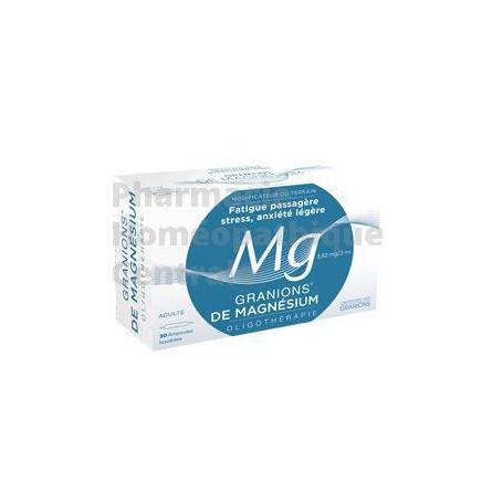 Magnésium - Granions - boite de 30 ampoules - Fatigue passagère, stress, anxiété légère, crampes, raideurs