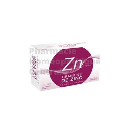 GRANIONS DE ZINC® en ampoules buvables est utilisé dans le traitement d'entretien de l'acné inflammatoire.