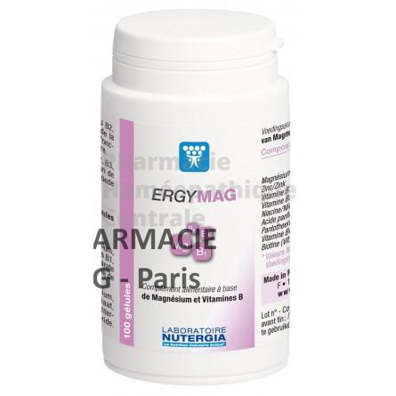 ERGYMAG est un complément alimentaire riche en magnésium et vitamines du groupe B