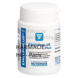 ERGYPHILUS® Plus est un complément alimentaire à base de 4 souches de ferments lactiques dosées à 6 milliards par gélule.