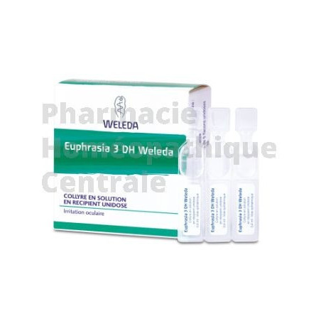 Euphrasia D3 collyre, 10 unidoses - Homéopathie Weleda Irritations oculaires