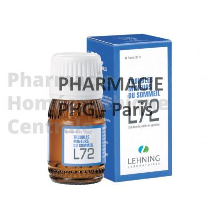 LEHNING  L72 gouttes complexes Trouble mineur du sommeil Flacon de 30 ml muni d'un compte goutte