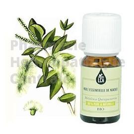 Niaouli est une huile essentielle bio antivirale et expectorante. Laboratoire LCA