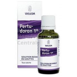 Les gouttes buvables de Pertudoron Weleda s'utilisent en cas de toux spasmodique ou de toux sèche d'irritation.