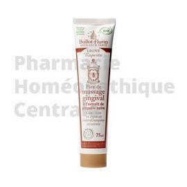 Massage des gencives avec la pâte gingivale - propolis noire et blanche
