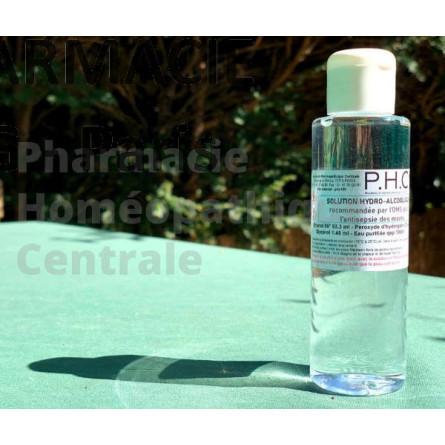 Solution hydro-alcoolique - formule de l'OMS - préparée en pharmacie