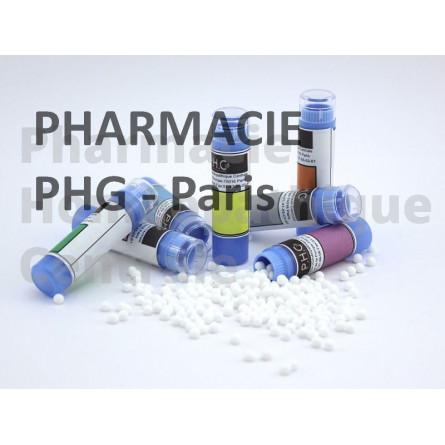 Cadmium metallicum  ulcère, ballonnement, troubles digestifs, hémorroïdes, otites, rhumes, sinusites, et états grippaux.
