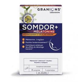 Somdor+ mélatonine vous aide à vous endormir (décallage horaire)