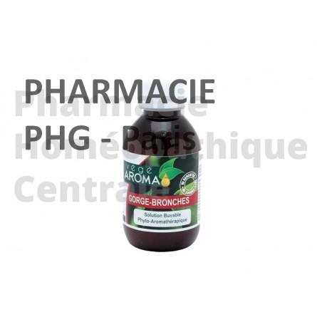 Sirop contenant des extraits de plantes et des huiles essentielles, pour calmer les toux grasses,  les toux sèches et adoucir la